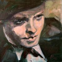 Orson Welles Citizen Kane Oil Painting by Ginette