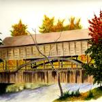 """Covered Bridge (Fall)"" by vigliotti"