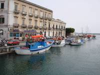 Harbor Scene in Catania, Sicily