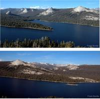 Two views of Courtright Reservoir