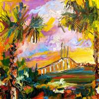 Bridge to Jekyll Island Oil Painting by Ginette