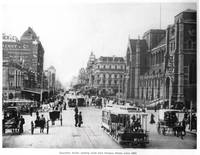 HM0363 Swanston St. from Flinders St. circa 1900