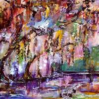 """Okefenokee Mystic Magic Watercolor by Ginette"" by GinetteCallaway"