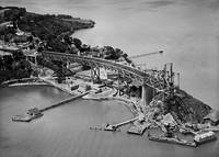 Bay Bridge Construction c1935 by WorldWide Archive