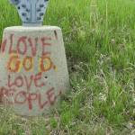 """Graffiti Love God Love People"" by imaginativeimagery"
