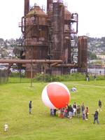 Beachball at Gasworks Park