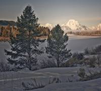 Winter morning in the Tetons