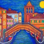 """Moonlit San Barnaba"" by LisaLorenz"