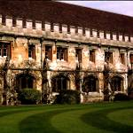 """Magdalen College Courtyard"" by MichelleLambert"