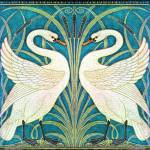 """WALTER CRANE TWIN SWANS"" by DevereauxGallery"