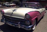 1955 Pink Crown Vic Fairlane - Coming