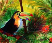 Toucan Painting by Ginette Callaway