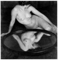 Nude Woman & Mirror by Clarence H. White (c. 1909)