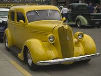 Yellow 1938 Plymouth Sedan
