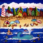 """Doris The Whale on Cape Cod Beach"" by reniebritenbucher"
