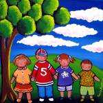 """Kids Play Red Rover"" by reniebritenbucher"