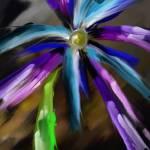 """Dark Blue Flower"" by cyentific"
