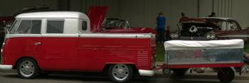 Classic VW Pickup with Trailer