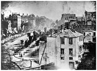 Boulevard du Temple, Paris by Daguerre