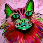 """""""WATERCOLOR Kitty-pink"""" by pjaysart"""