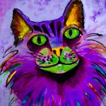"""WATERCOLOR KITTY-purple"" by pjaysart"