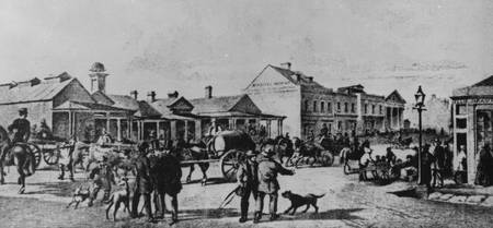 HM0373 General Post Office Melbourne circa 1853