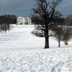 """The Mansion, from the Golf Course under snow"" by JohnGaffen"