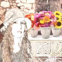 Portrait of a Flower Lady by I.M. Spadecaller