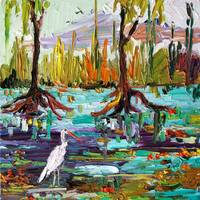 Everglades Oil Painting by Ginette