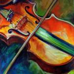 """VIOLIN ABSTRACT 06"" by MBaldwinFineArt2006"