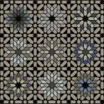 """Morocco 3 x 3 black taupe blue"" by LeslieTillmann"