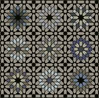 Morocco 3 x 3 black taupe blue