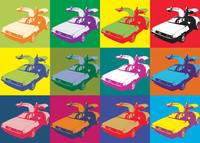 DeLorean Pop Art Poster