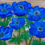 """Blue Garden Anemones"" by elajanus"