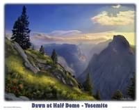 Yosemite - Dawn at Half Dome