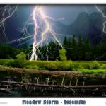 """Yosemite- Meadow Storm"" by pixeltone"