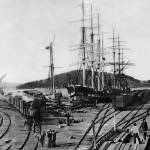 """Oakland Long Wharf c1870"" by worldwidearchive"