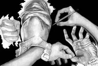 Hands Drawing (MC ESCHER inspiration piece)