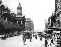 HM0394 Swanston St. Melbourne Showing Town Hall ci