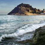 """Tossa de Mar Beach and Castle"" by oleymoley"