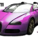 """Bugatti Veyron pink centenaire"" by cdepaz"