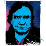 """Johnny Cash Portrait by Michael T. Bane"" by tBaneArt"