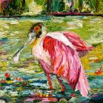 """Roseate Spoonbill Oil Painting by Ginette Callaway"" by GinetteCallaway"
