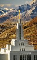 draper lds temple shot from hill above