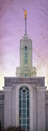 Mount timpanogos temple composite purple sky