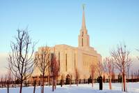 Oquirrh Mountain temple snow day