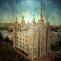 Salt lake temple cool texture compo image