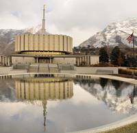 PROVO temple composite shot pretty reflect in pool