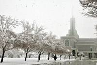 Mount timpanogos Temple big snow storm 5 patron