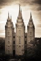 salt lake temple texture cool sunset march sepia